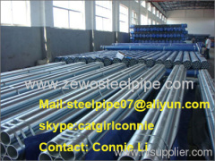 BS1387-1995 Hot dipped galvanized steel pipe