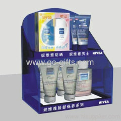 Cosmetics acrylic display stand for cleansing cream