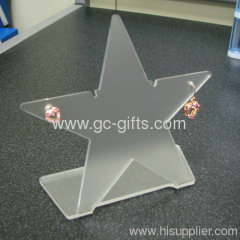 The popular clear star shaped acrylic earring holder