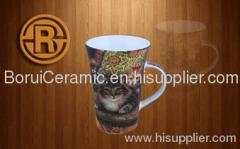 5-20oz,stoneware,porcelain,super white porcelain mugs,print the logo,decal mug