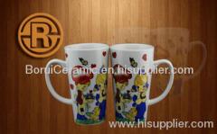stoneware,porcelain,super white porcelain mugs,print the logo