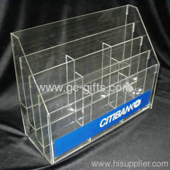 Sturdy construction of clear lucite book shelf