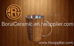 Color Glaze Mug,stoneware,porcelain,super white porcelain mugs,print the logo