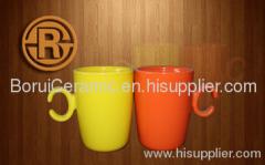 Color Glaze Mug,5-20oz,stoneware,porcelain,super white porcelain mugs,