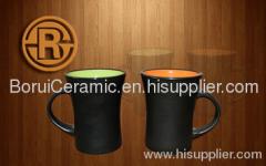 Color Glaze Mug,stoneware,porcelain,print the logo