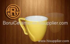Color Glaze Mug,5-20oz,stoneware,print the logo