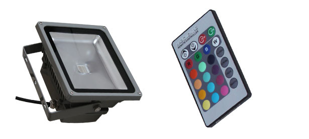 Color changing 20w LED flood light RGB with remote control