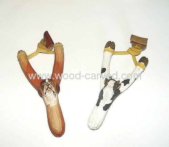 Wood Carved Animal Slingshot