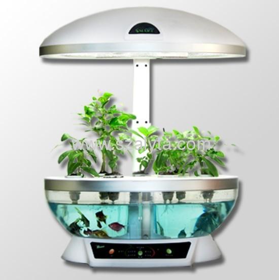 Strange new creative fashion simple table lamp lighting aquarium intelligent white flowerpot