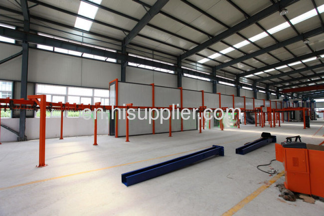 Continuous Painting Powder Coating Conveyor Line Equipment OEM