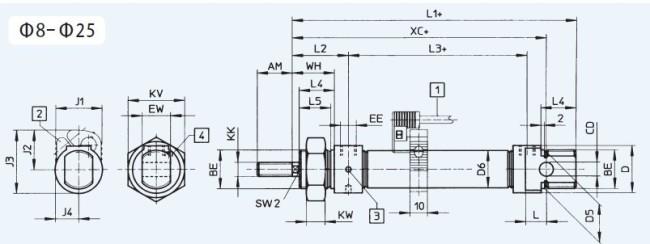 XSN Series ISO6432 standard cylinder kit (FESTO model)