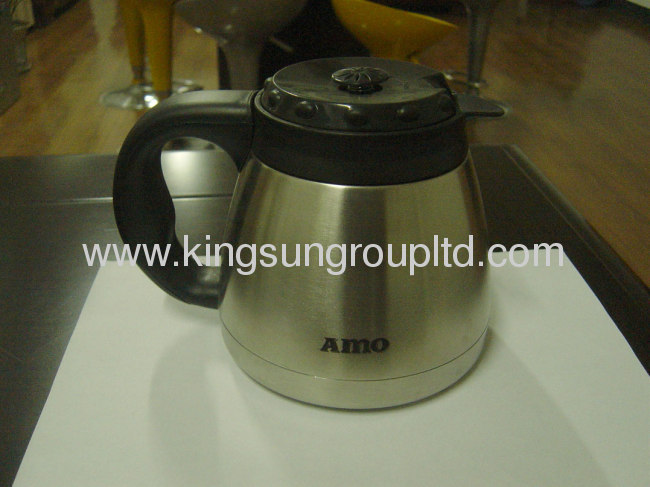 stainless steel and timer drip coffee maker