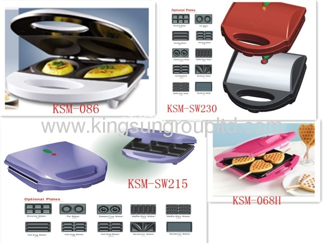 750W stainless steel panel sandwich maker