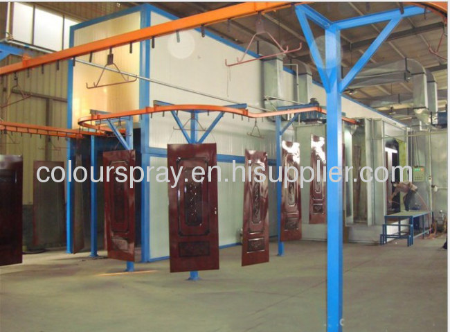 Professional design and manufacture of security doors spray production line equipment