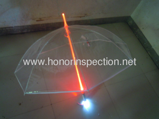 LED umbrella quality control