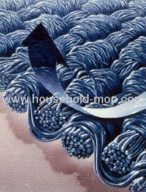Microfibre Silver and Blue Loop Mop Complete with Handle