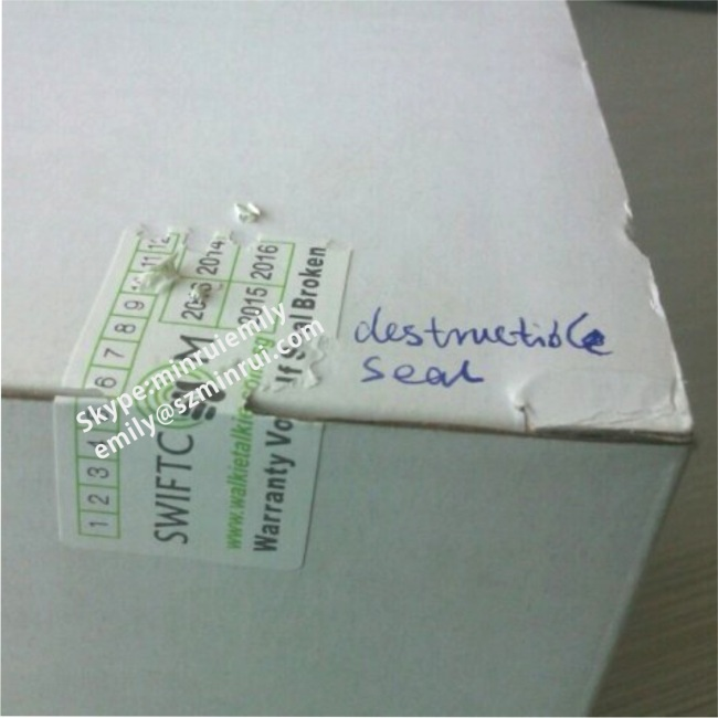 Custom Security Sealling Stickers for Sealling Boxes,Tamper ProofSecurity Seal Stickers,Self Destructive Labels