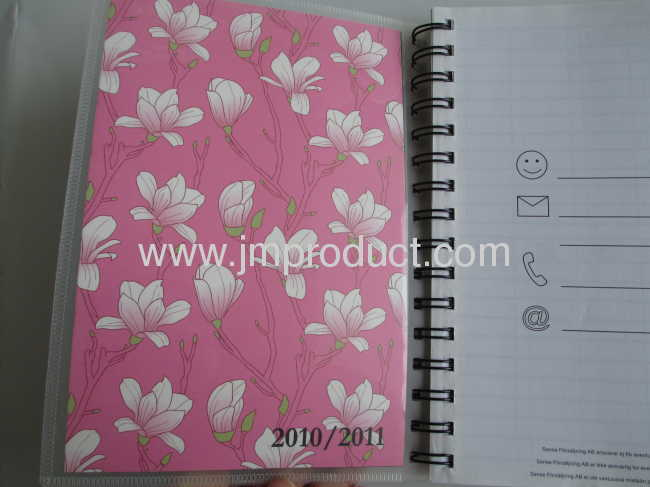 PP cover pocket diary