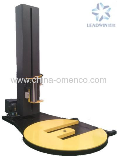 pallet wrapping machine with forktruck slot