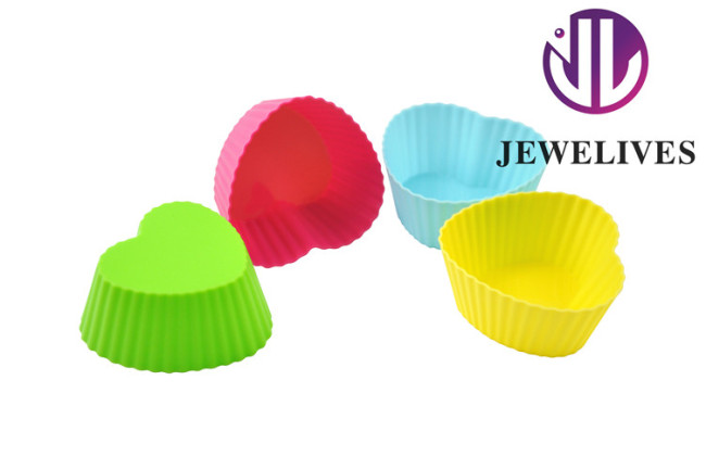 New! Cake molds Nonstick Silicon Baking mold in heart shape