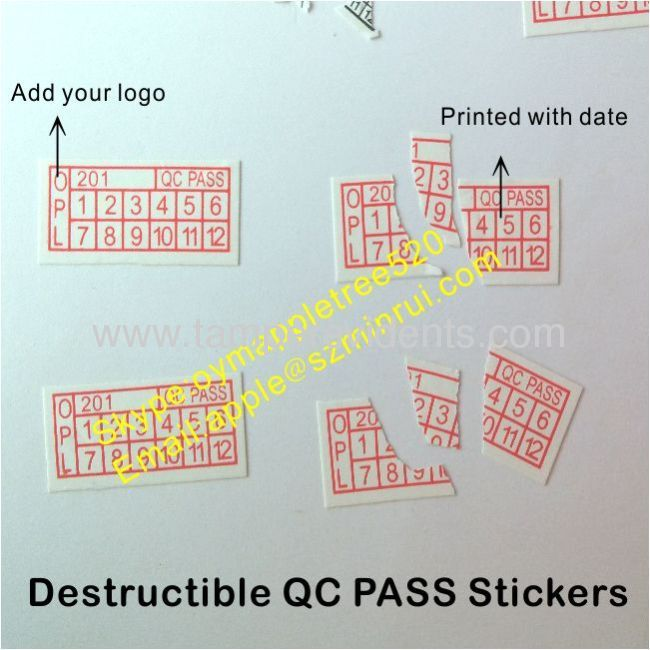 Tamper Evident Phone Warranty Stickers From China