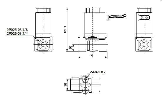 2P 2 way Plastic water solenoid valve