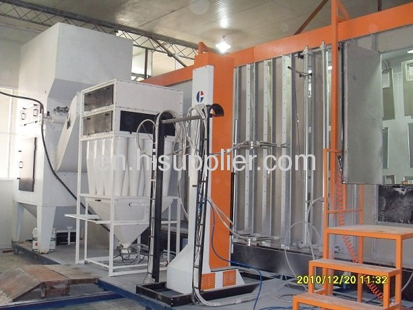 metal door powder coating unit