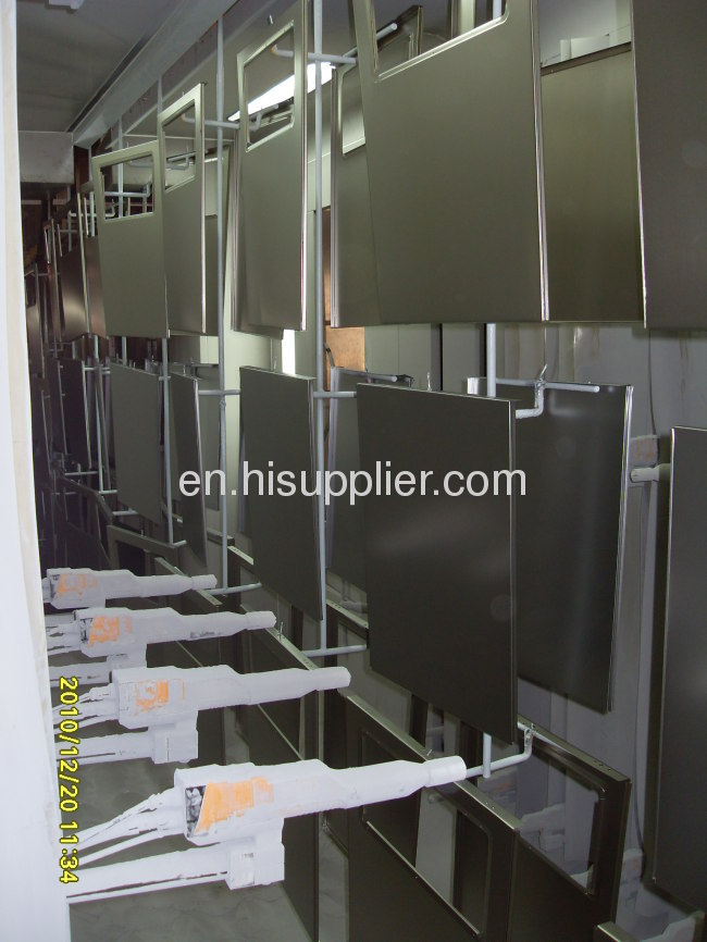 metal door powder coating system