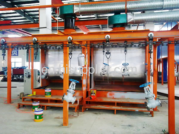 Automatic powder coating production line for metal product