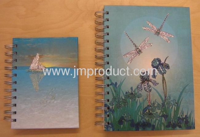 butterfly hardcover spiral notebook