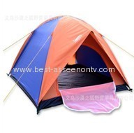 Three double pressure plastic tents Tent double layer outdoor camping water-resistant sunscreen