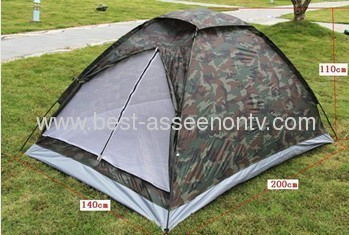 Outdoor casual camping tent double three tier Camouflage tent rain tents lovers tent