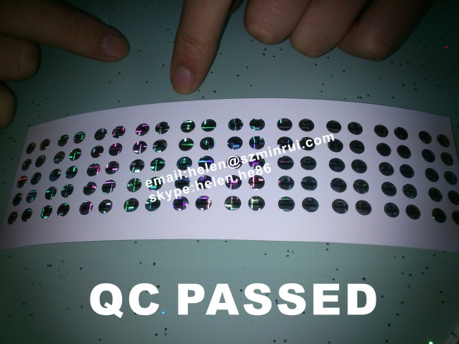 Self Adhesive Qc Passed Sticker From China Manufacturer