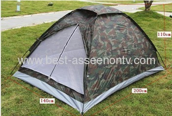 Outdoor casual camping tent double single tier Camouflage tent rain tents lovers tent