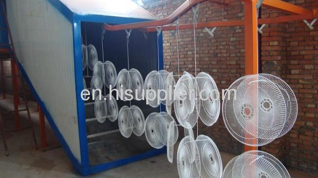 fan powder coating machine
