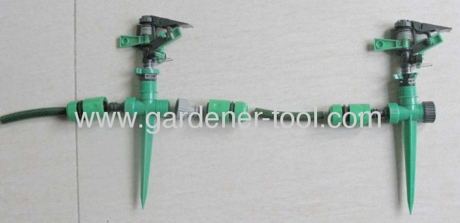 Plastic Water Sprinkler As Plastic Impulse Sprinkler W/Spike For Agriculture Irrigation