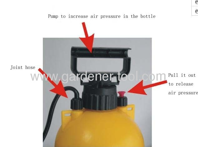 8L Plastic Agriculture Sprayer As Air Pressure Sprayer with single belt