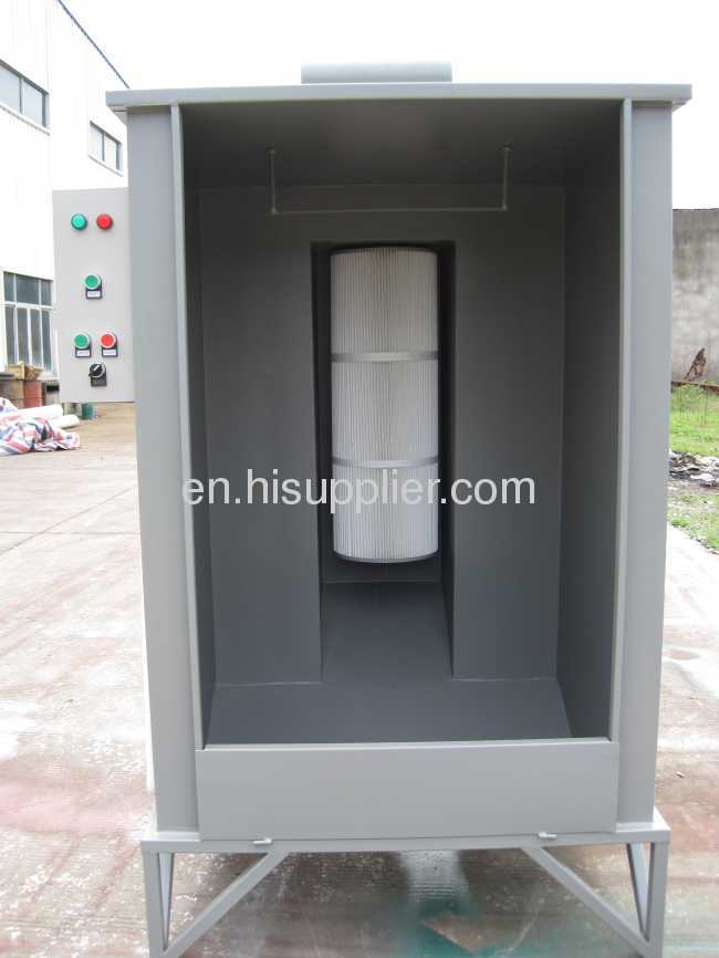 4000 / 6600 Nm3 /h Powder Coating Spray Booth For Manual Operation
