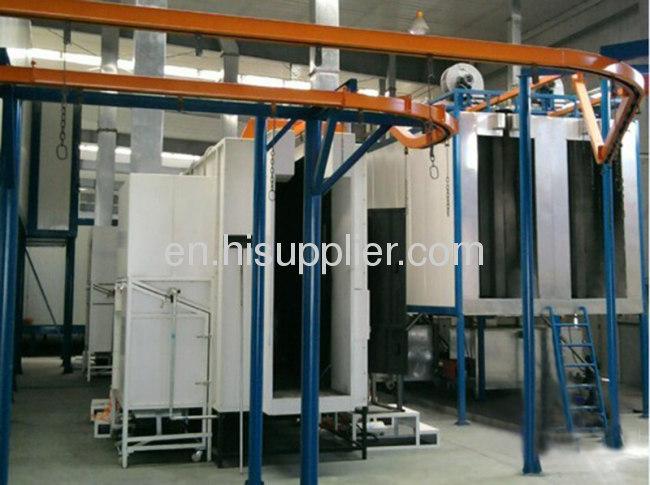 Powder Spray Coating Line With 500 - 600kg Conveyor Shains