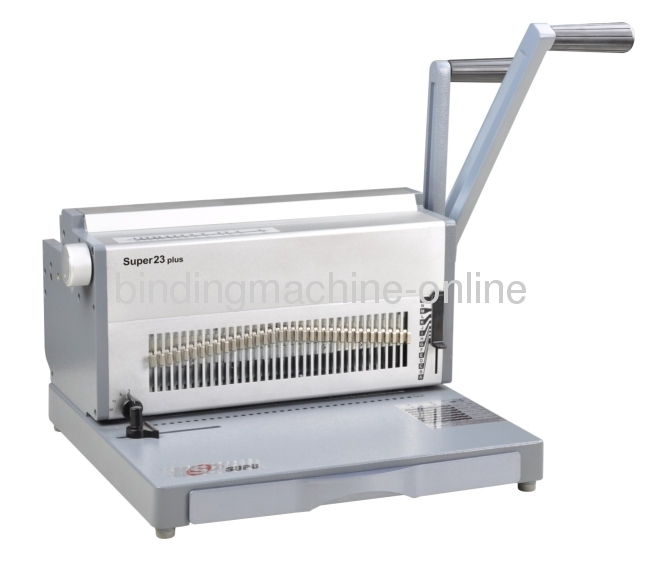 28 Punch Sheets Manual Wire Closing Machine