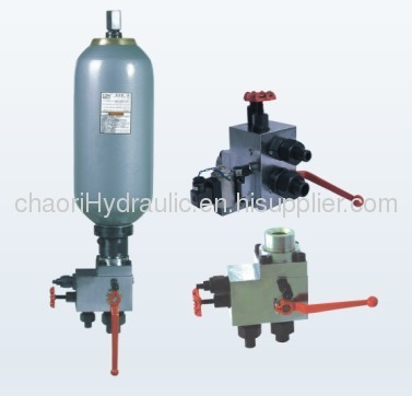 contol valve set for accumulator