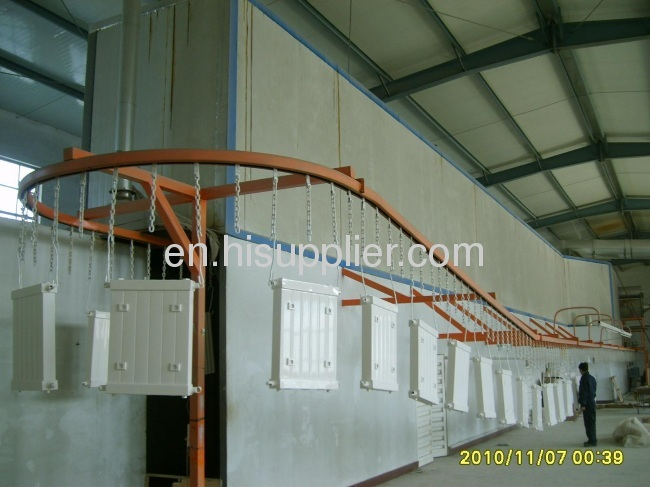 professional powder coating line for fire-fighting equipment