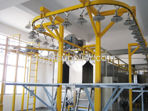 powder coating system for fire-extinguisher