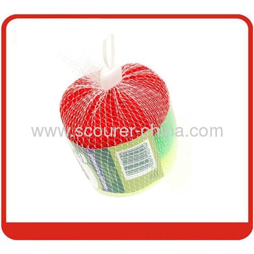 Beautiful appreance Plastic Mesh Scourer in Kichen cleaning