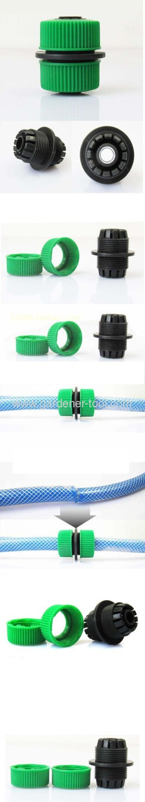 Plastic 1/2hose mender as garden hose connector for connectoring 2pcs 1/2PVC garden hose together