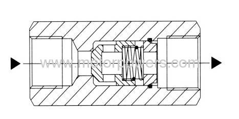 Check valve with threaded connection