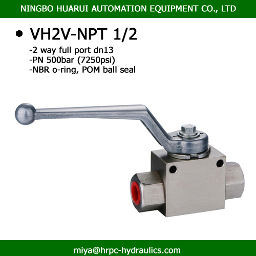 1/2 inch hydraulic oil 2 way threaded ball valve dn13 hydraulic oil exporter