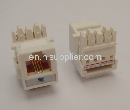 Mini Cat.3 (RJ11) Telephone Keystone Jack