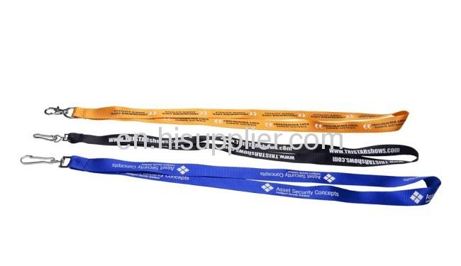 promotional Nylon Lanyards withblue