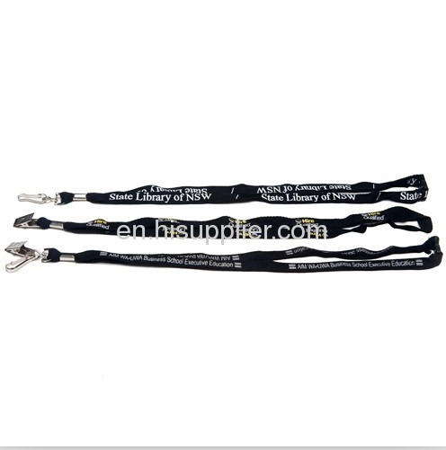 1.2cm polyester bootlace lanyards
